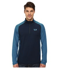 Mountain Hardwear Butterman 1 2 Zip Top Hardwear Navy Men's Long Sleeve Pullover Blue