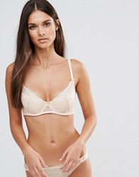 Mimi Holliday Superplunge Raised Lace Bra Peach And Nude Pink