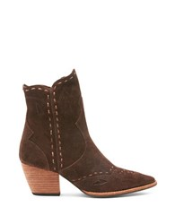 Matisse Parker Stitched Suede Western Boots Chocolate