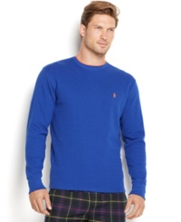 Polo Ralph Lauren Men's Tipped Thermal Crew Neck Shirt College Royal