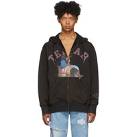 Telfar Black Hot Tub Zip Up Hoodie