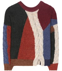 Etoile Isabel Marant Gao Alpaca Wool And Linen Blend Sweater Multicoloured