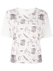 Olympia Le Tan Printed T Shirt Pink And Purple
