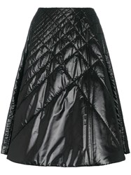Moncler A Line Quilted Mid Skirt Black