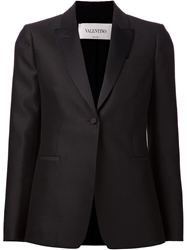 Valentino One Button Blazer Black