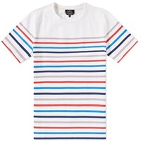 A.P.C. Regular Stripe Tee White