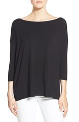 Women's Bailey 44 'Sarah' Boatneck Stretch Jersey Tee Black