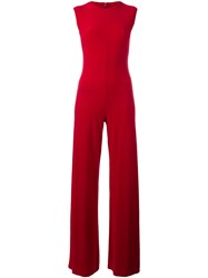 Norma Kamali Fitted Jumpsuit Red