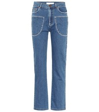 See By Chloe Straight Leg Jeans Blue