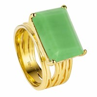 Neola Pietra Gold Vermeil Cocktail Ring With Chrysoprase