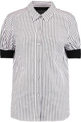 Marc By Marc Jacobs Striped Cotton Poplin Shirt White