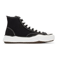 Miharayasuhiro Black Original Sole Canvas Hi Cut Sneakers