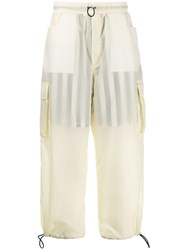Sunnei Sheer Cargo Trousers Yellow