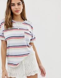 Abercrombie And Fitch Deep Scoop Pocket T Multi
