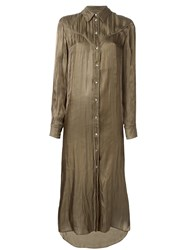 Maison Martin Margiela Mm6 Long Shirt Dress Green
