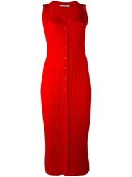 Givenchy Knitted Waistcoat Women Wool M Red