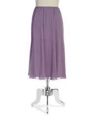 Alex Evenings Plus Chiffon Godet Skirt Icy Orchid