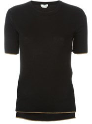 Fendi Ribbed T Shirt Black