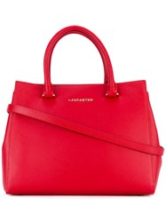 Lancaster Logo Stamp Tote Women Leather One Size Red