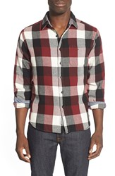 Eddie Bauer 'Woodhacker Ilaria Urbinati Collection' Trim Fit Flannel Sport Shirt Burnt Brick