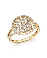Bloomingdale's Diamond Halo Cluster Ring In 14K Yellow Gold 1.0 Ct. T.W.
