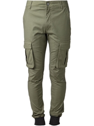 Zanerobe Slim Fit Combat Trousers Green