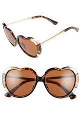 Women's A.J. Morgan 'Heartstomper' 58Mm Heart Shaped Sunglasses