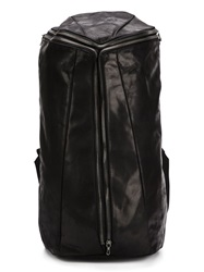 Julius Square Shaped Zip Backpack Black