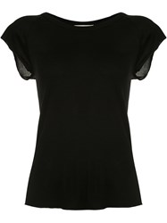 Nili Lotan Scoop Neck T Shirt Black