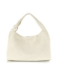 Ghibli Woven Leather Tote White