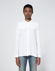 Equipment Denver Western Shirt In Bright White