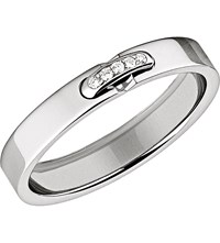 Chaumet Liens Xxs Platinum Diamond Set Wedding Band