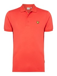 Lyle And Scott Men's Pascoe Short Sleeve 2 Tone Polo Red