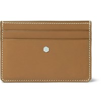 Connolly Hex Leather Cardholder Tan