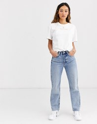 Weekday Alanis This Is My Body Slogan T Shirt In White