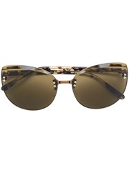 N 21 No21 Square Frame Sunglasses Brown
