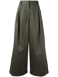 Valentino High Waisted Palazzo Pants Green