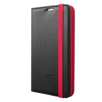 Moleskine Universal Smartphone Folio Case For 4.6 5.1 Smartphones Black Red