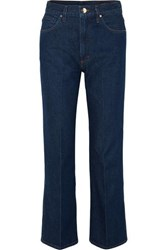 Gold Sign Goldsign The A High Rise Straight Leg Jeans Dark Denim