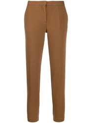 Fabiana Filippi Slim Fit Trousers Brown