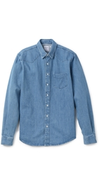 Schnayderman's Western Denim Shirt Light Blue