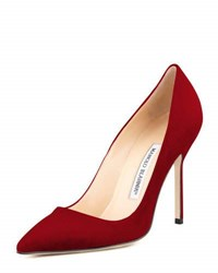 Manolo Blahnik Bb Suede 105Mm Pump Ruby