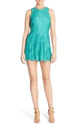 Women's Adelyn Rae Lace Romper Mint