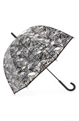 Hunter Dulse Wave Print Bubble Umbrella