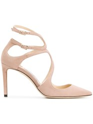 Jimmy Choo Lancer 85 Pumps Calf Leather Leather Pink Purple