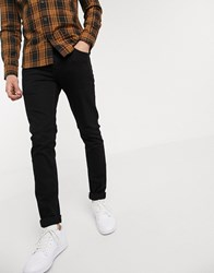 Solid Skinny Fit Jeans In Black