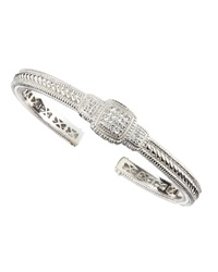 Judith Ripka Pave Cushion Bangle