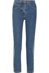 Paul And Joe Clamecy Paneled Slim Boyfriend Jeans Mid Denim