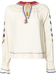 Ulla Johnson Embroidered Blouse Nude Neutrals
