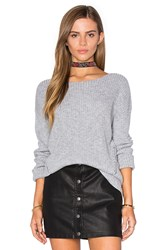 One Grey Day Billie Bell Sleeve Sweater Gray